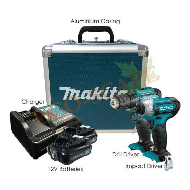 CLX224SAX1 Cordless Drill & Impact Driver Kit 12V-0