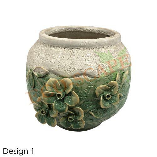 Embossed Flower Vase-0