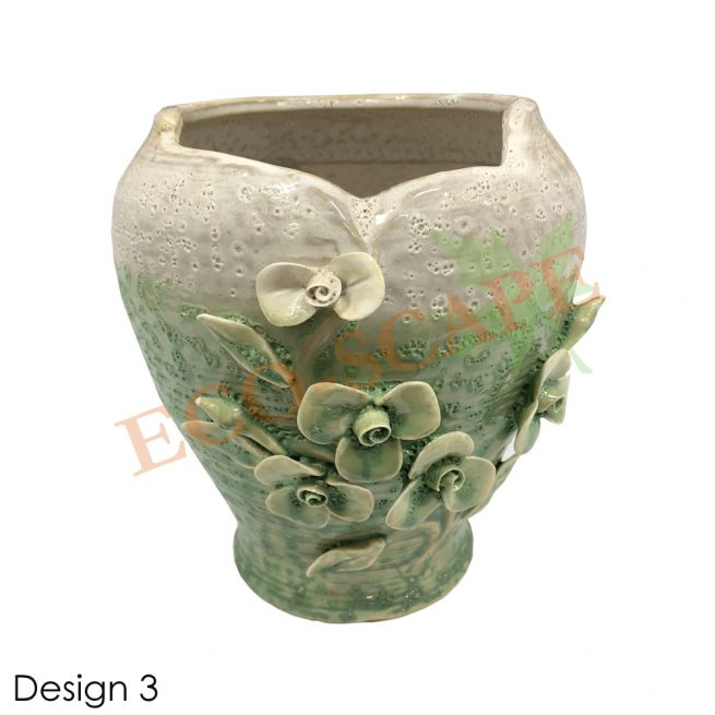 Embossed Flower Vase-2157