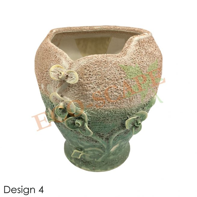 Embossed Flower Vase-2158