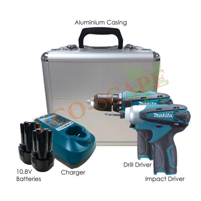 LCT204 Cordless Drill & Impact Driver Kit 10.8V-0