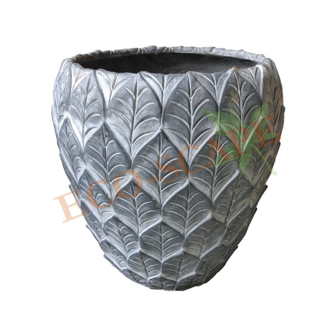 Leaf Patterned Pot Series-0