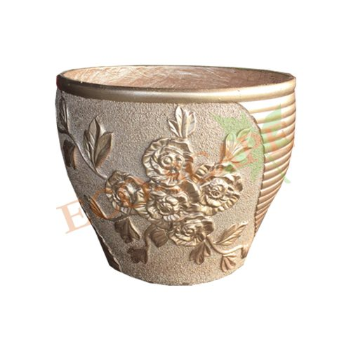 No. 3 Rose Gold Floral Pot Series-0