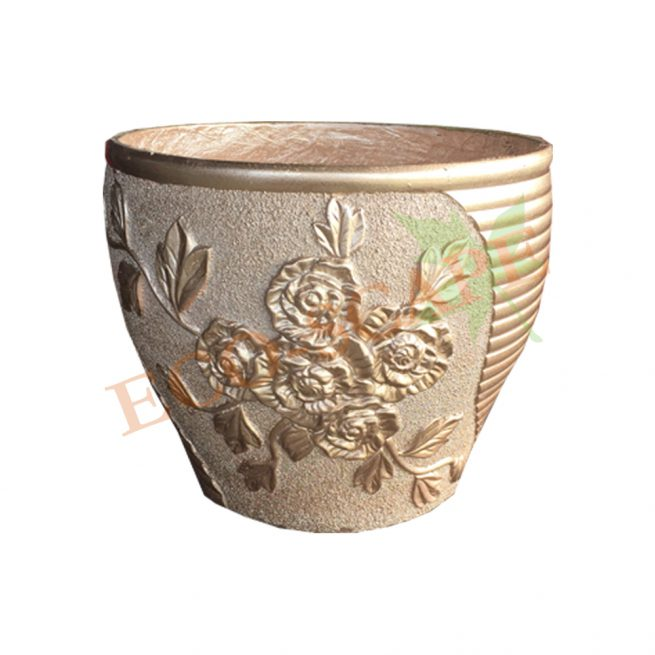 No. 3 Rose Gold Floral Pot Series-0