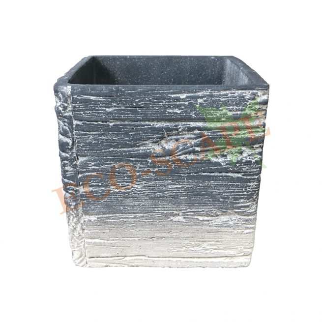 Wood Textured Square Pot Series-0