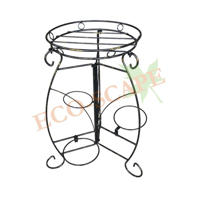 WT12 Pot Stand (Black-Gold)-0